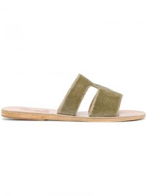 Шлепанцы Apteros Ancient Greek Sandals. Цвет: зеленый