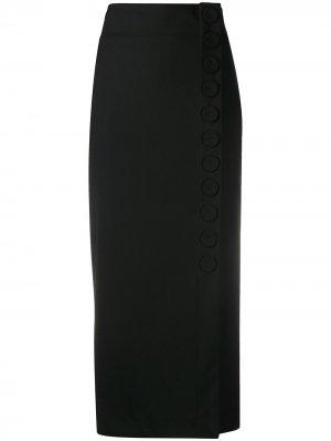 Юбка миди с завышенной талией Pierantoniogaspari. Цвет: черный