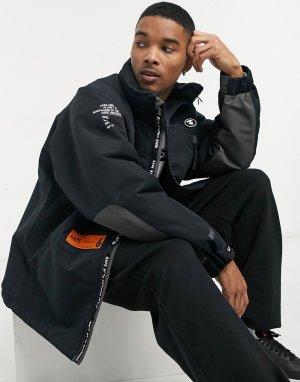 Черная куртка со складывающимся капюшоном AAPE By A Bathing Ape-Черный цвет APE®