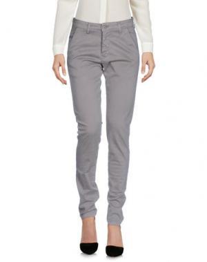 Повседневные брюки EXCLUSIVE. Цвет: голубиный серый