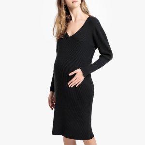 Платье-пуловер La Redoute. Цвет: черный