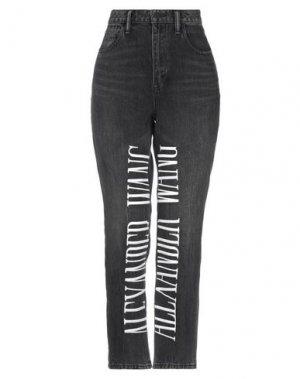 Джинсовые брюки ALEXANDER WANG. Цвет: черный