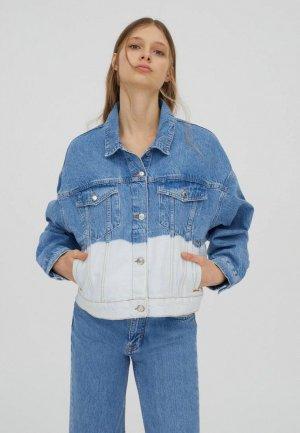 Куртка джинсовая Pull&Bear Join Life. Цвет: синий