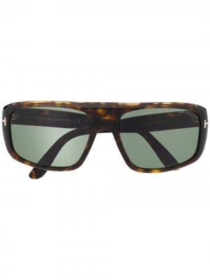 Солнцезащитные очки FT0754 в прямоугольной оправе TOM FORD Eyewear. Цвет: коричневый