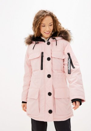 Куртка утепленная FWD lab. Цвет: розовый