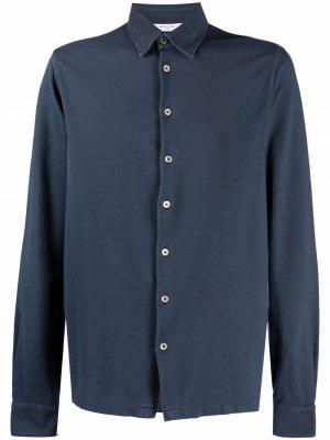 Рубашка из джерси с длинными рукавами Boglioli. Цвет: синий