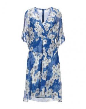 Платье до колена ELIE TAHARI. Цвет: синий