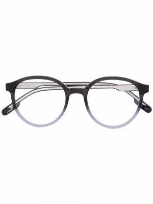 Солнцезащитные очки в круглой оправе с эффектом градиента Kenzo. Цвет: черный