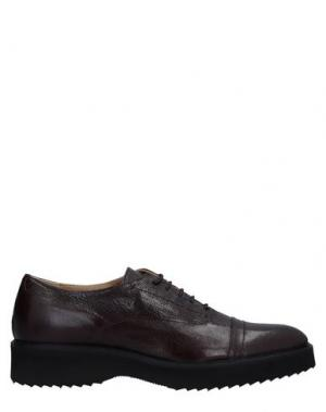 Обувь на шнурках LOGAN. Цвет: баклажанный
