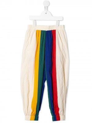 Спортивные брюки со вставками Bobo Choses. Цвет: белый