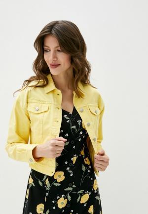 Куртка джинсовая b.young. Цвет: желтый