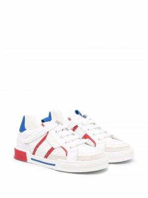 Contrasting details sneakers Dolce & Gabbana Kids. Цвет: белый