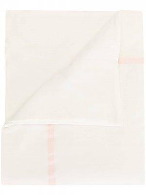 Одеяло с отделкой в полоску Lesy. Цвет: белый
