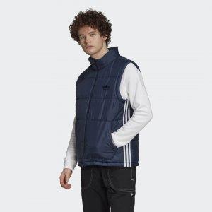 Утепленный жилет Puffer Originals adidas. Цвет: синий