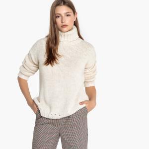 Пуловер с воротником отворотом MIRTA SUD EXPRESS. Цвет: кремовый