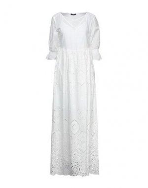 Длинное платье FRACOMINA. Цвет: белый