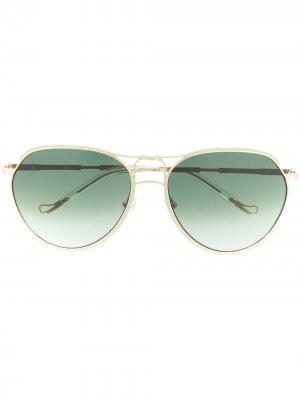 Солнцезащитные очки-авиаторы Holly из коллаборации с Linda Farrow Matthew Williamson. Цвет: золотистый