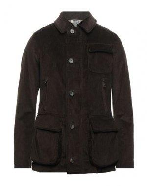 Пальто L'IMPERMEABILE. Цвет: темно-коричневый