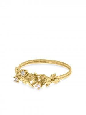 Кольцо Beekeeper из желтого золота с бриллиантом Alex Monroe. Цвет: золотистый