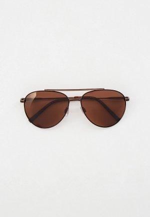 Очки солнцезащитные Invu Flexible, с поляризационными линзами. Цвет: коричневый