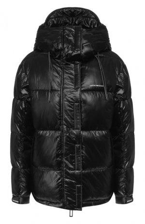 Утепленная куртка Emporio Armani. Цвет: чёрный
