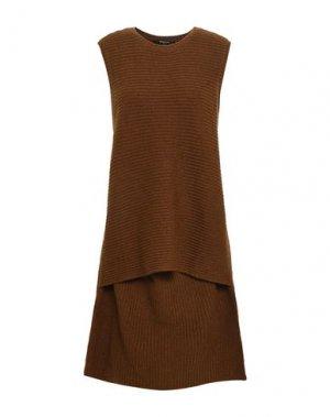 Короткое платье DEREK LAM. Цвет: коричневый