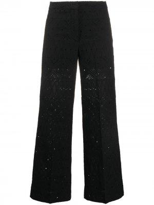 Расклешенные брюки Seventy. Цвет: черный