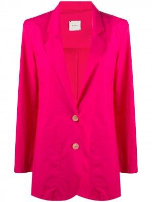 Пиджак прямого кроя Alysi. Цвет: розовый