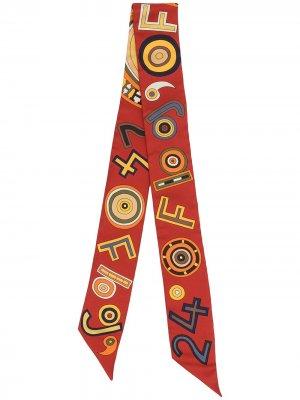 Узкий шарф 24 Faubourg pre-owned Hermès. Цвет: красный