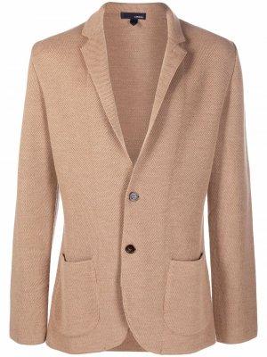 Однобортный пиджак с заостренными лацканами Lardini. Цвет: коричневый