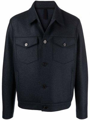 Фетровая шерстяная куртка Harris Wharf London. Цвет: серый