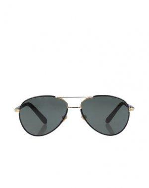 Солнечные очки LINDA FARROW LUXE. Цвет: черный