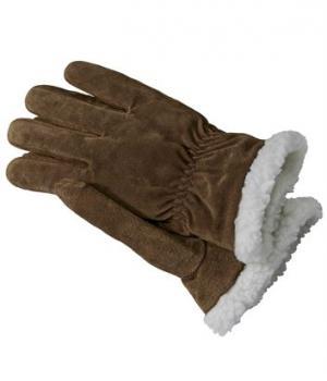 Замшевые Перчатки с Подкладкой из Шерпы Atlas For Men. Цвет: коричневый