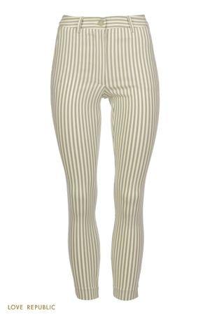 Зауженные брюки в полоску LOVE REPUBLIC