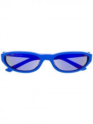 Солнцезащитные очки Neo в круглой оправе Balenciaga Eyewear. Цвет: синий