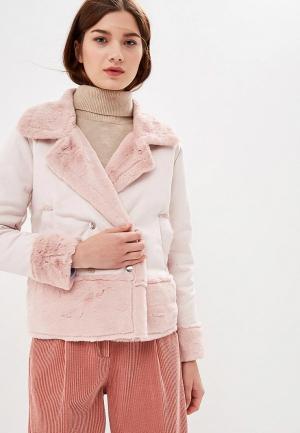 Дубленка Rossa. Цвет: розовый