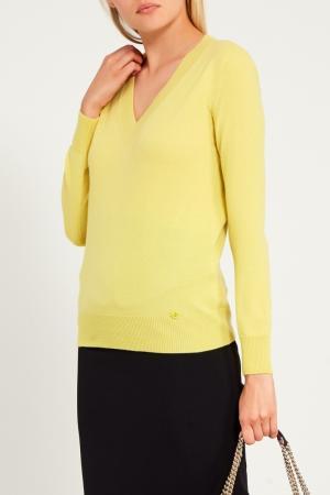 Пуловер лимонного цвета Gucci
