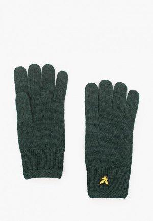 Перчатки Lyle & Scott Racked Rib Glove. Цвет: зеленый