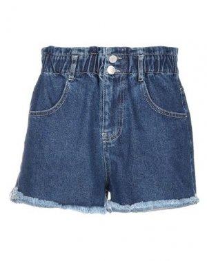 Джинсовые шорты SOALLURE. Цвет: синий