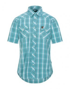 Pубашка COTTONFIELD. Цвет: бирюзовый
