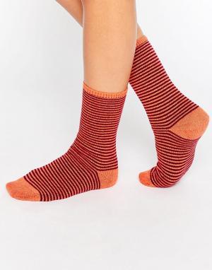 Носки в полоску Johnstons. Цвет: оранжевый