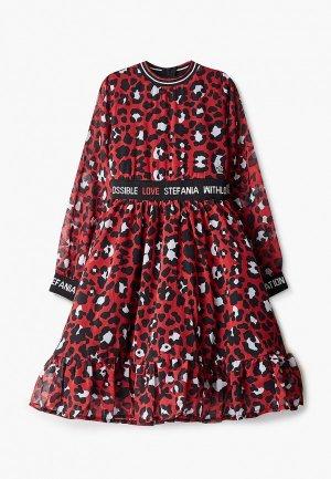 Платье Stefania Pinyagina. Цвет: красный