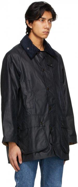 Navy Beaufort Wax Jacket Barbour. Цвет: navy