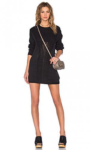 Платье свитер knox Evil Twin. Цвет: черный