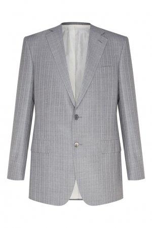 Шерстяной серый костюм Stefano Ricci. Цвет: серый