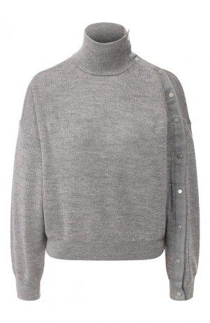 Шерстяной свитер alexanderwang.t. Цвет: серый