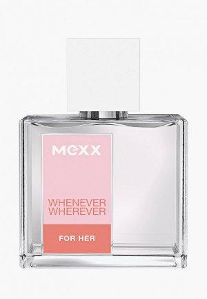 Туалетная вода Mexx Whenever Wherever, 30 мл. Цвет: прозрачный
