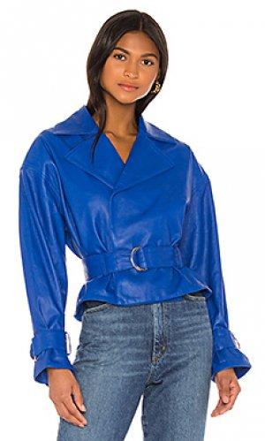 Кожаная куртка dani Song of Style. Цвет: синий