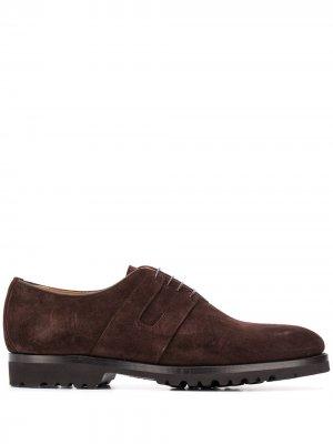 Туфли оксфорды Kiton. Цвет: коричневый