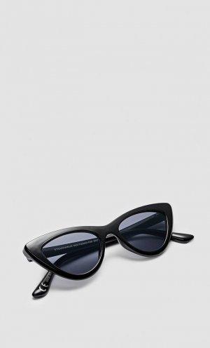 Cолнцезащитные Очки В Оправе «Cat Eye» Черный 103 Stradivarius. Цвет: черный